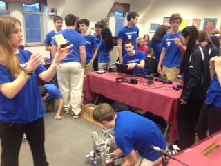 NHS Robotics Team at School Committee