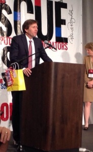 Dr. Peter Sanchioni gives MASSCUE Administrator of the Year 2014 acceptance speech.