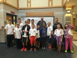 Students from Millis MS and Staff with Wellness/Leadership Program Overview
