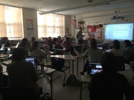 Tom Sallee teaches iMovie to enhance classroom goals