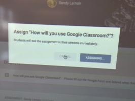 Master Teacher, Sandy Lemon, KMS Teaches Google Classroom