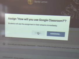 Master Teacher, Sandy Lemon, KMS Teaches Google Classroom